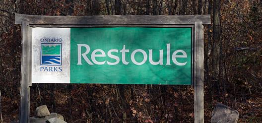 Restoule Provincial Park Sign