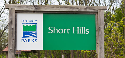 Short Hills Provincial Park Sign