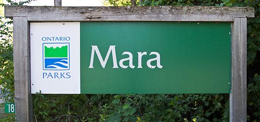 Mara Provincial Park Sign