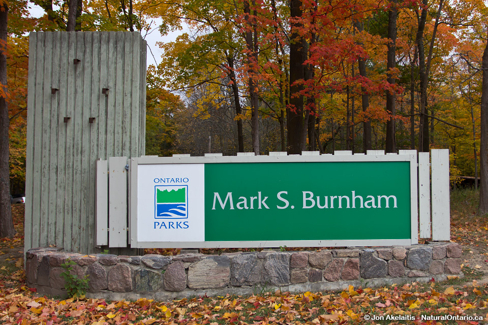 Mark S Burnham Provincial Park Sign