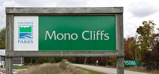 Mono Cliffs Provincial Park Sign