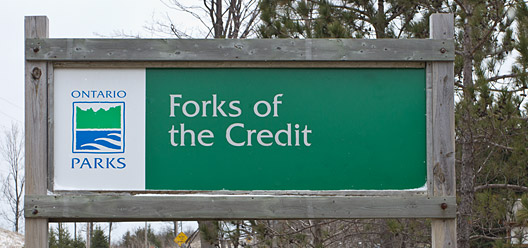 Forks of the Credit Provincial Park Sign